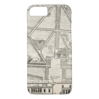 Capa iPhone 8/ 7 Mapa do parque de Greenwich