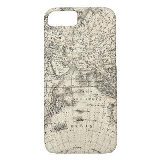 Capa iPhone 8/ 7 Mapa do vintage de Europa e de Ásia