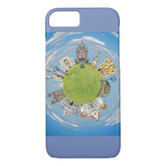 Capa iPhone 8/ 7 marco pequeno minúsculo do planeta de romania da