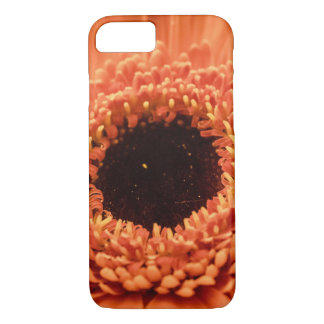 Capa iPhone 8/ 7 Margarida alaranjada grande do Gerbera