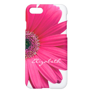 Capa iPhone 8/7 Margarida do Gerbera de Gerber do rosa quente