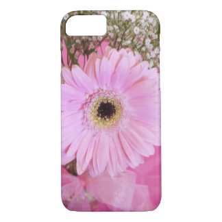 Capa iPhone 8/ 7 Margarida do rosa de bebê floral