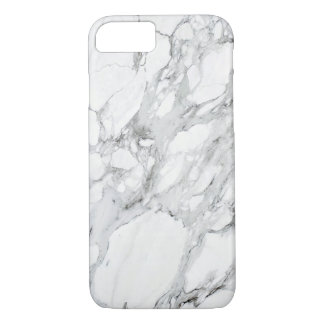 Capa iPhone 8/ 7 Mármore cinzento branco preto de pedra de Carrara