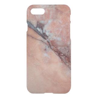 Capa iPhone 8/7 Mármore italiano cor-de-rosa com falha