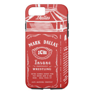 Capa iPhone 8/ 7 Marque o cobrir do iPhone de Dallas (vermelho)