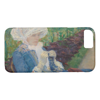 Capa iPhone 8/ 7 Mary Cassat- Lydia que Crocheting no jardim