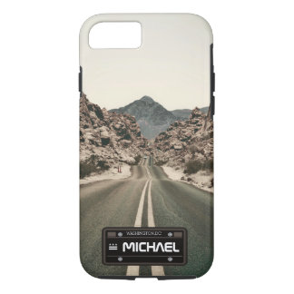 Capa iPhone 8/ 7 matrícula conhecida personalizada