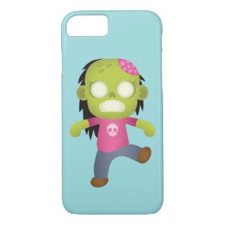 Capa iPhone 8/ 7 Menina bonito do zombi dos desenhos animados