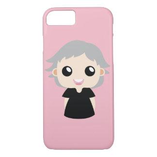 Capa iPhone 8/ 7 Menina com cabelo cinzento