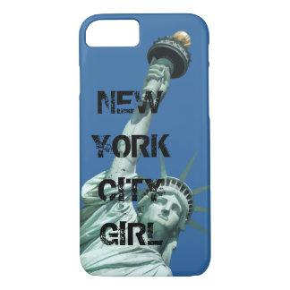 Capa iPhone 8/ 7 Menina corajoso da Nova Iorque