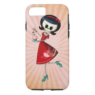 Capa iPhone 8/ 7 Menina de esqueleto doce & assustador
