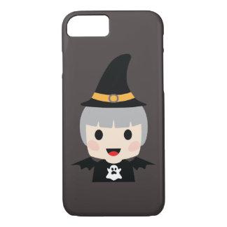 Capa iPhone 8/ 7 Menina do bastão do Dia das Bruxas