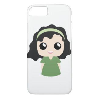 Capa iPhone 8/ 7 Menina do cabelo encaracolado