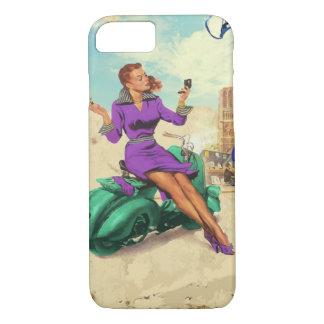 Capa iPhone 8/ 7 Menina do italiano do vintage