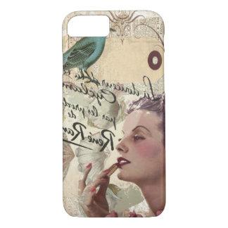 Capa iPhone 8/ 7 Menina gatsby dos roteiros franceses do pássaro do