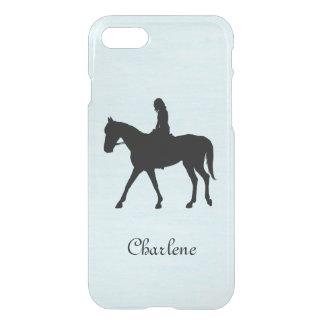 Capa iPhone 8/7 Menina no cavalo personalizado