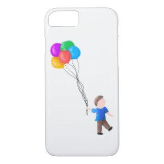 Capa iPhone 8/ 7 Menino com iPhone dos balões 7/8 de caso