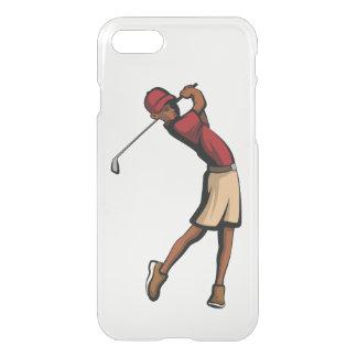 Capa iPhone 8/7 Menino preto do jogador de golfe