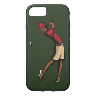 Capa iPhone 8/ 7 Menino preto do jogador de golfe