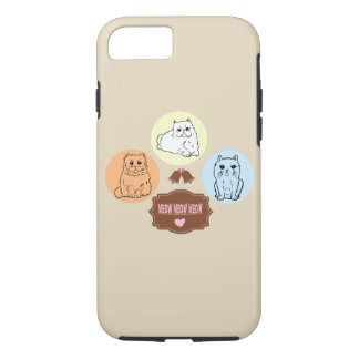 Capa iPhone 8/ 7 meow do meow do meow dos gatos