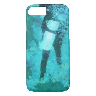 Capa iPhone 8/ 7 Mergulhador e bolhas de mergulhador