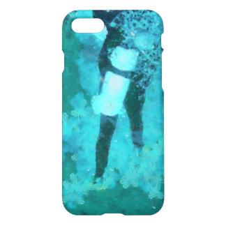 Capa iPhone 8/7 Mergulhador e bolhas de mergulhador