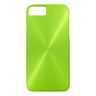 Capa iPhone 8/ 7 Metal de aço inoxidável brilhante do verde limão