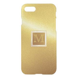Capa iPhone 8/7 Metal escovado luxo do ouro com monograma