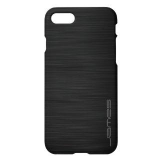 Capa iPhone 8/7 metal perfurado elegante escuro personalizado pelo