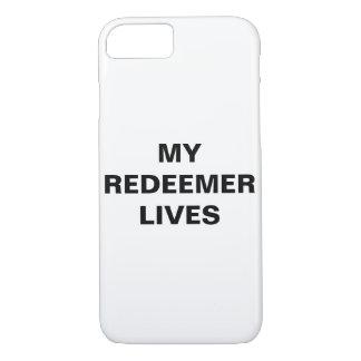 """Capa iPhone 8/ 7 """"Meu redentor vive"""" iPhone de Apple 8/7 de caso"""
