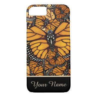Capa iPhone 8/ 7 Migração da borboleta de monarca personalizada