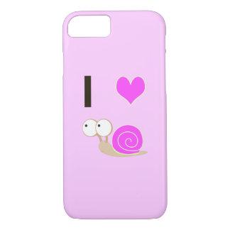 Capa iPhone 8/ 7 Mim caracóis do coração - rosa