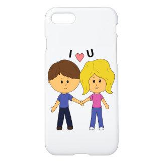 Capa iPhone 8/7 Mim casal de Luv U Chibi - design completo