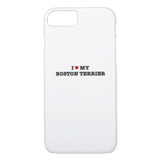 Capa iPhone 8/ 7 Mim coração meu caso do iPhone 7 de Boston Terrier