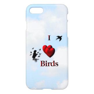 Capa iPhone 8/7 Mim pássaros do coração