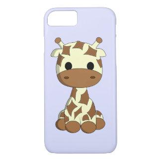 Capa iPhone 8/ 7 Miúdos bonitos dos desenhos animados do girafa do