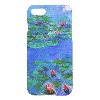Capa iPhone 8/7 Monet - lírios de água (vermelhos)