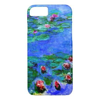 Capa iPhone 8/ 7 Monet - lírios de água (vermelhos)