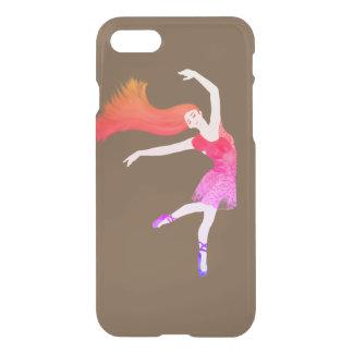 Capa iPhone 8/7 Monograma colorido da dança da bailarina