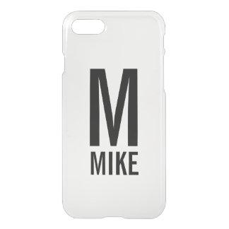Capa iPhone 8/7 Monograma e nome personalizados modernos