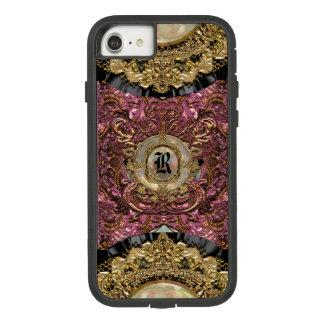 Capa iPhone 8/ 7 Monograma elegante original de Parfaita VII régio