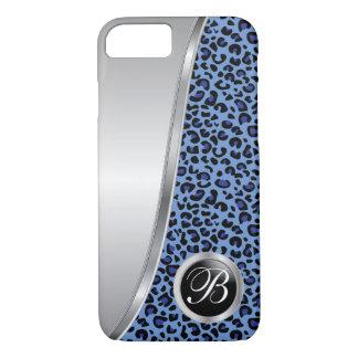 Capa iPhone 8/ 7 Monograma preto e azul escuro do impressão | do