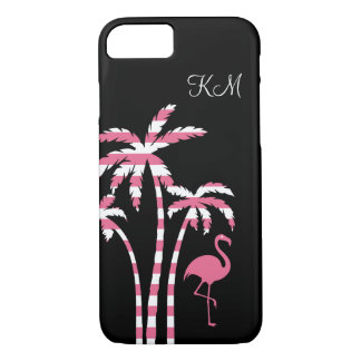 Capa iPhone 8/ 7 Monograma tropical do flamingo