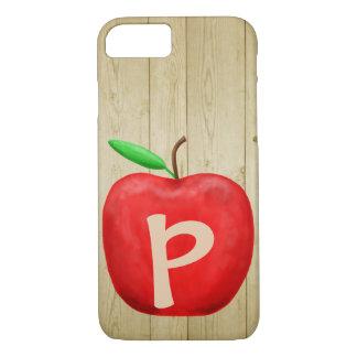 Capa iPhone 8/ 7 Monograma vermelho de Apple
