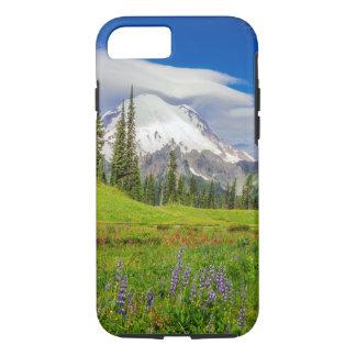 Capa iPhone 8/ 7 Montanha e Wildflowers