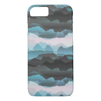 Capa iPhone 8/ 7 Montanhas azuis estilizados desvanecidas