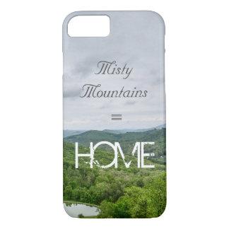 Capa iPhone 8/ 7 Montanhas enevoadas = HOME