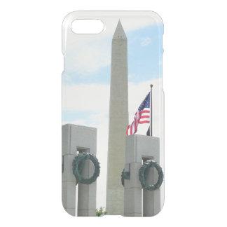 Capa iPhone 8/7 Monumento de Washington e memorial de WWII na C.C.