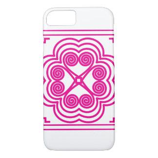 Capa iPhone 8/ 7 Motivo da pegada do elefante no rosa