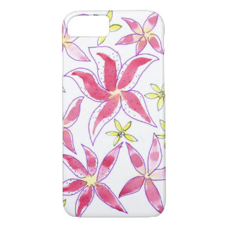 Capa iPhone 8/ 7 motivo floral da aguarela